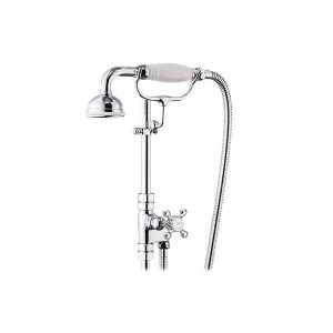 St James 18mm Diverter Valve with Hose & Handshower on Cradle - SJK680-LH